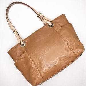 Michael Kors Jet Set Brown & Gold Leather Tote